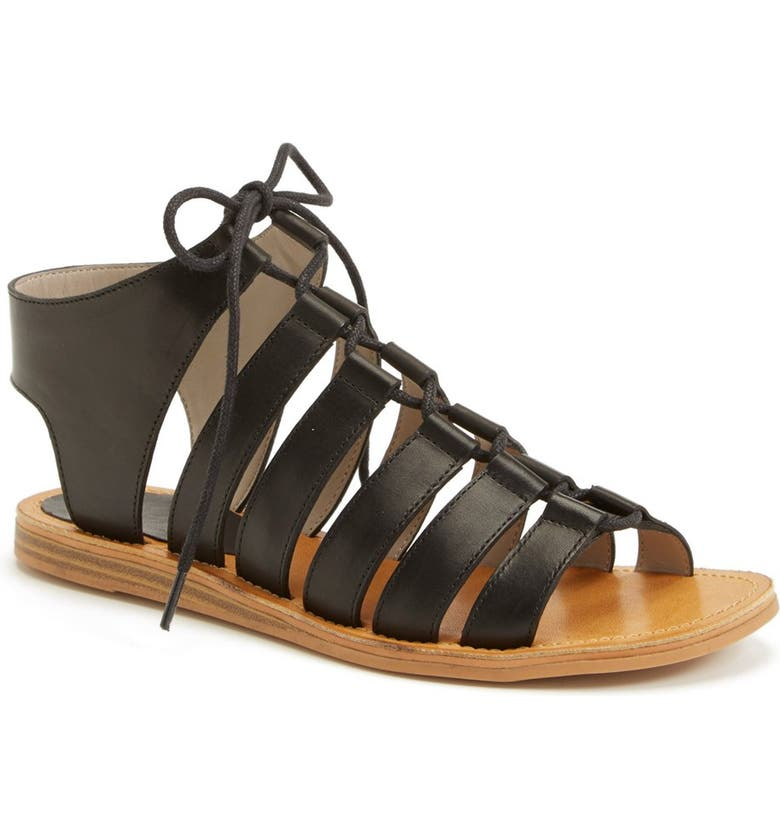 HINGE 'Roman' Strappy Lace-Up Sandal, Main, color, 001