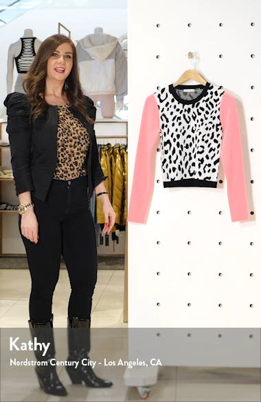 Ciara Leopard Pattern Sweater, sales video thumbnail