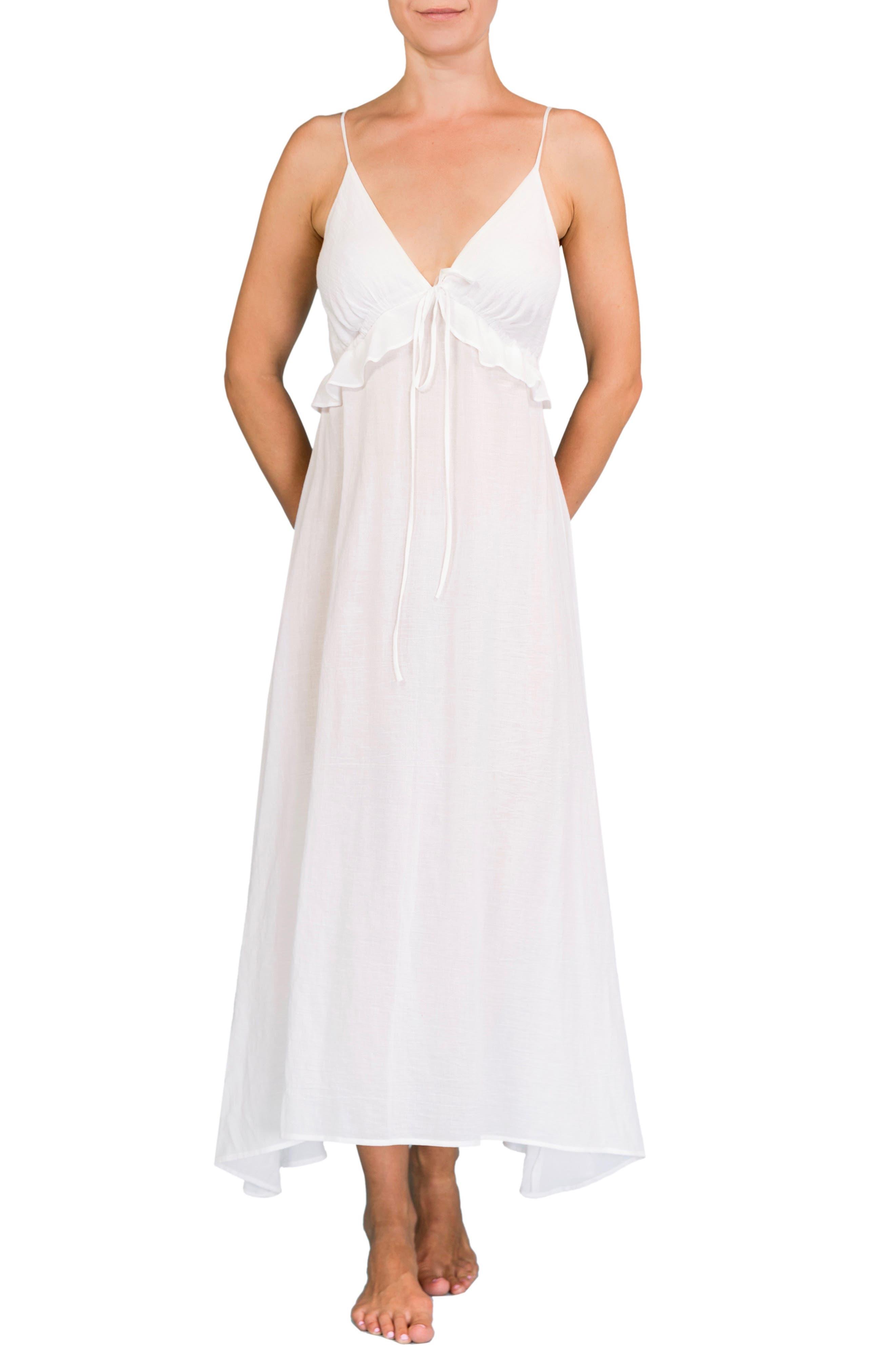 Ruffle Empire Waist Nightgown