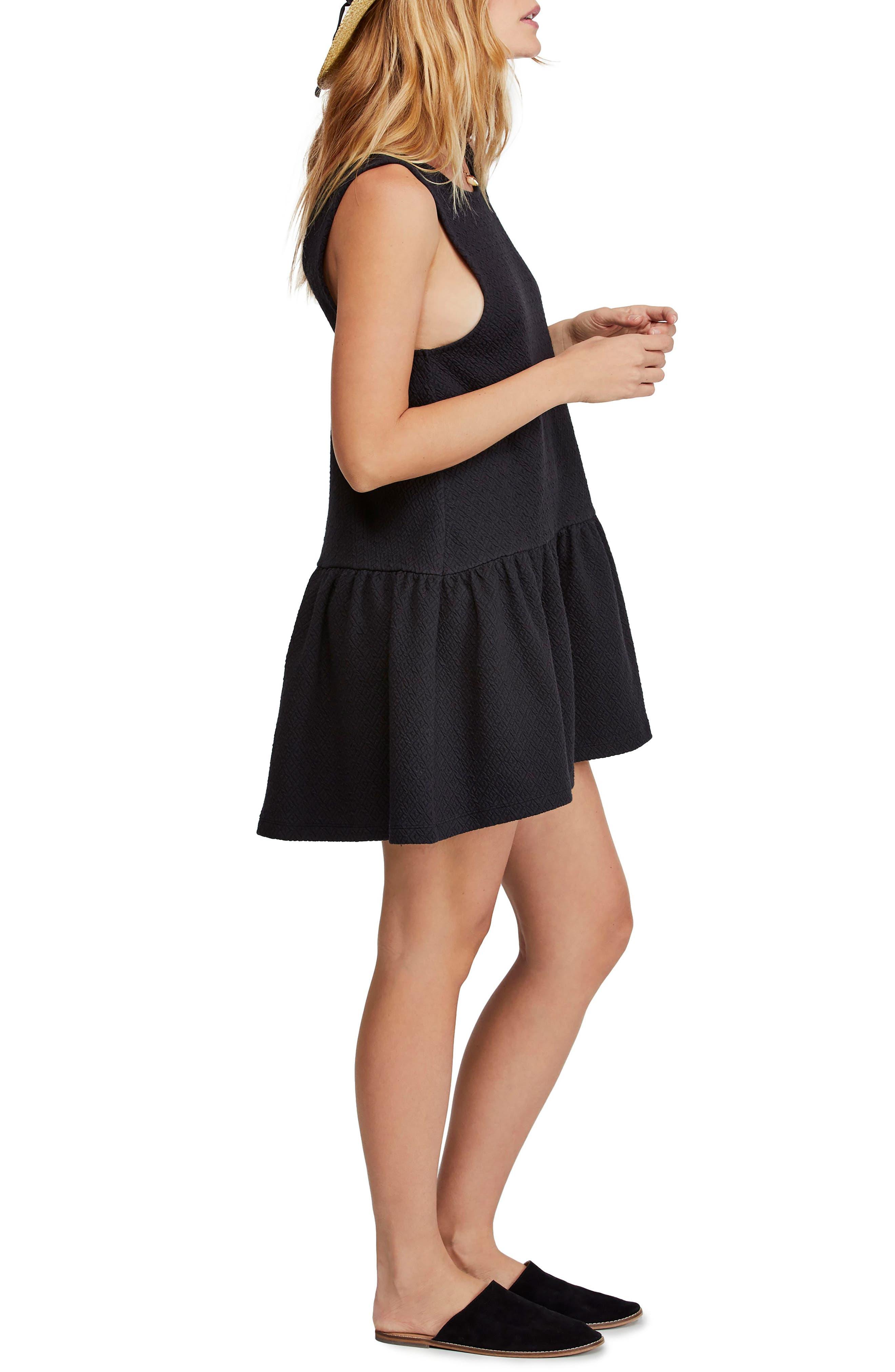,                             Easy Street Sleeveless Minidress,                             Alternate thumbnail 3, color,                             BLACK