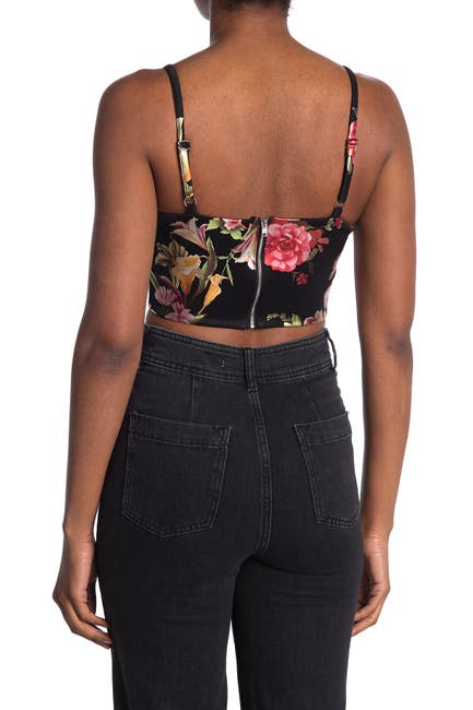 Image of MATERIAL GIRL Shine Floral Crop Top