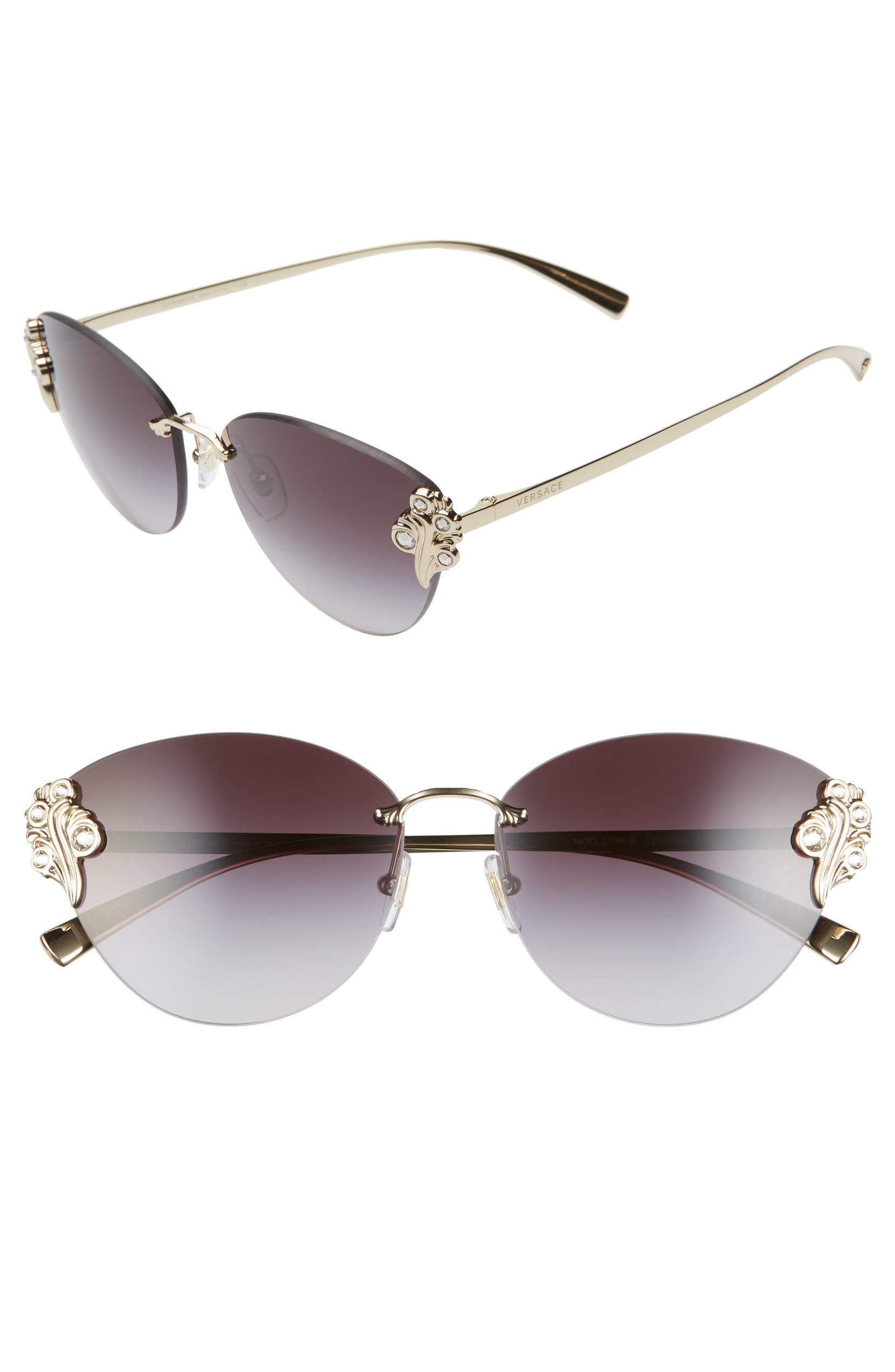 3c37954f79bf Versace Tribute 58mm Cat Eye Sunglasses | Nordstrom