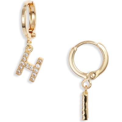 Marida Initial Hoop Earrings