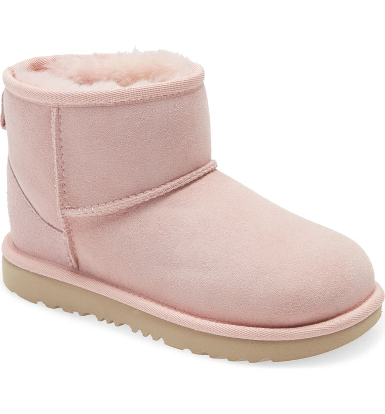 UGG<SUP>®</SUP> Classic Mini II Water-Resistant Genuine Shearling Boot, Main, color, PINK CLOUD