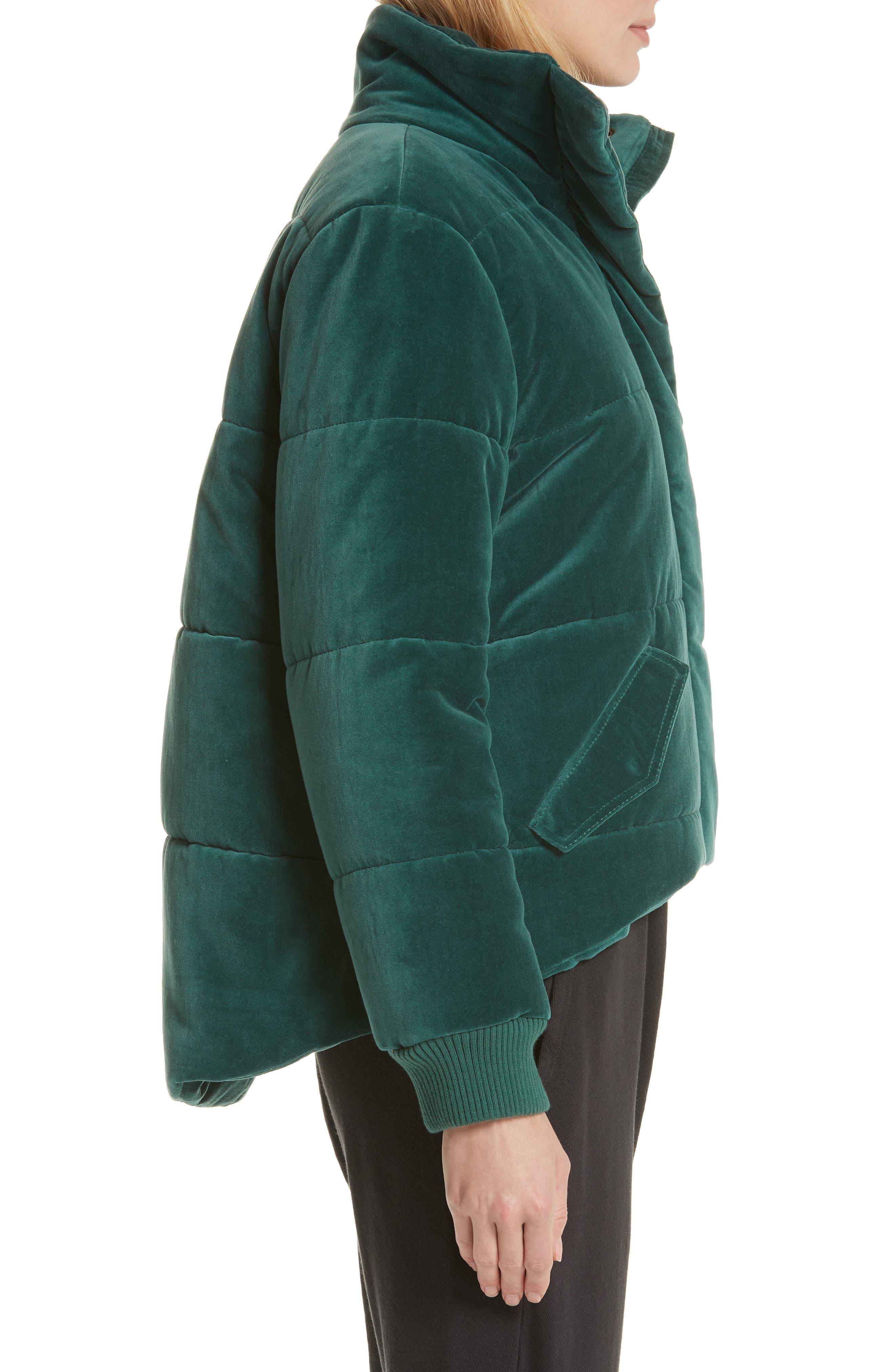 ,                             The Quilted Velvet Puffer Coat,                             Alternate thumbnail 3, color,                             300