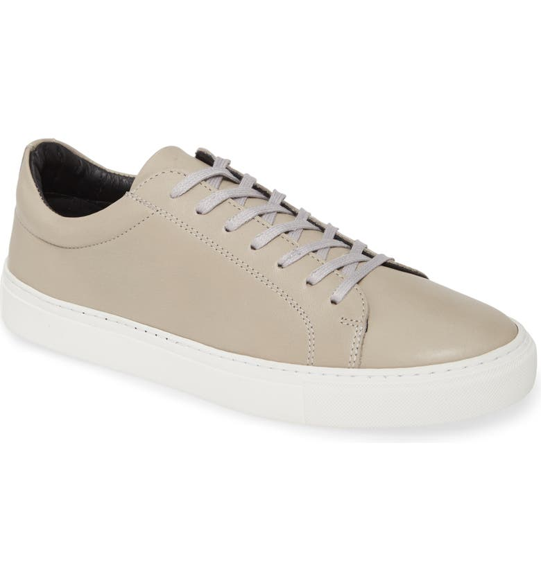 SUPPLY LAB Damian Lace-Up Sneaker, Main, color, LIGHT GREY LEATHER
