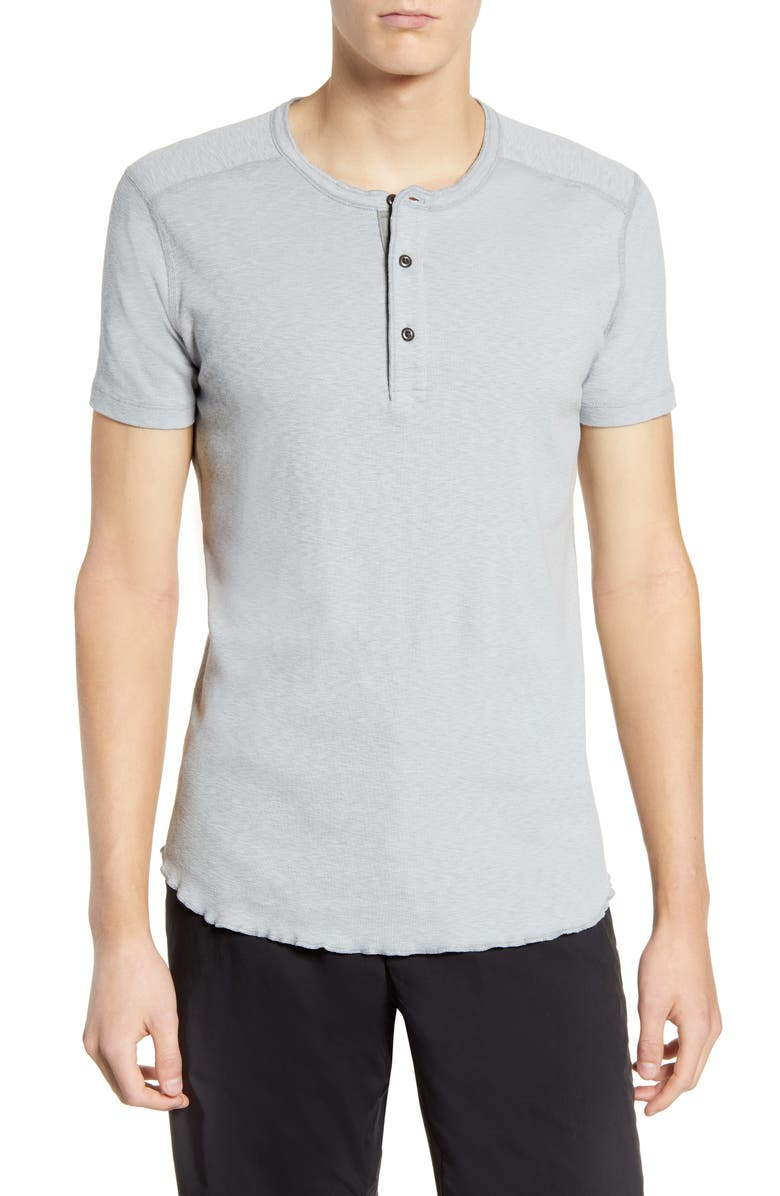 WINGS + HORNS Short Sleeve Henley, Main, color, HAZE