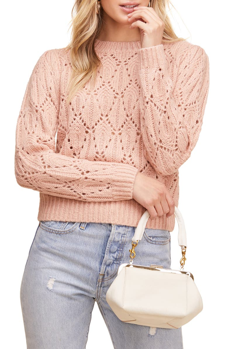 ASTR THE LABEL Dee Dee Sweater, Main, color, BLUSH