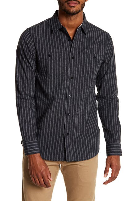Image of Coastal Striped Ride Modern Fit Flannel