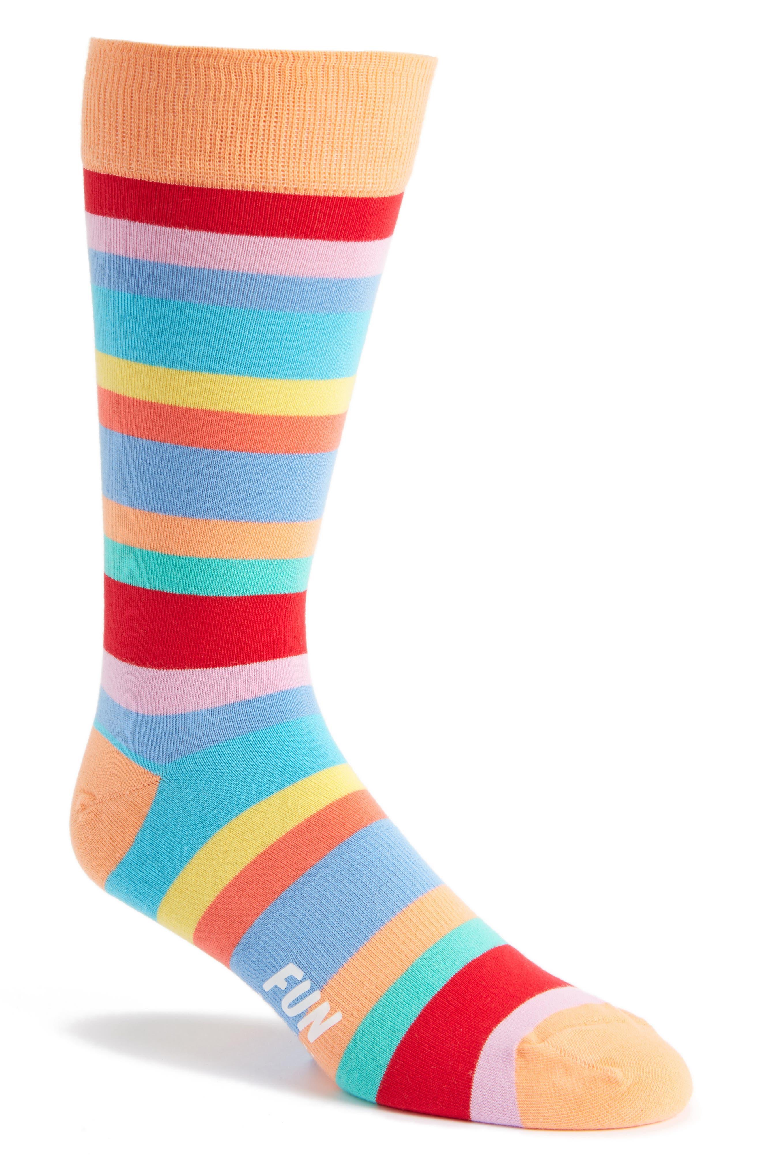 Men's Fun Socks Stripe Tall Socks