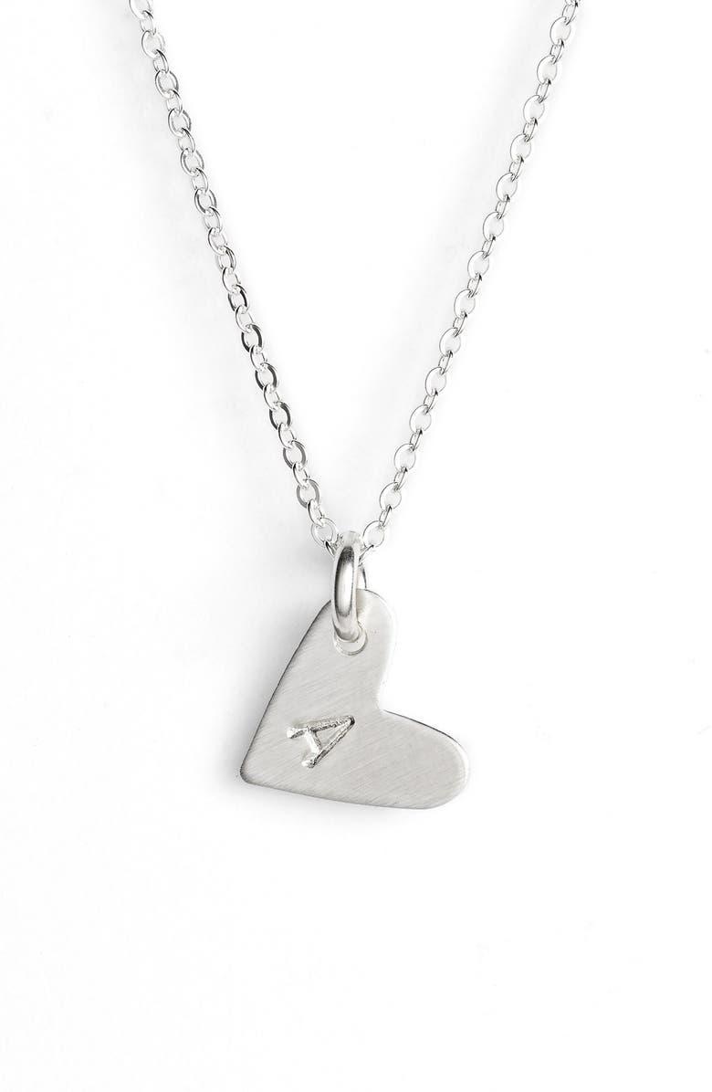 NASHELLE Initial Heart Pendant Necklace, Main, color, 040