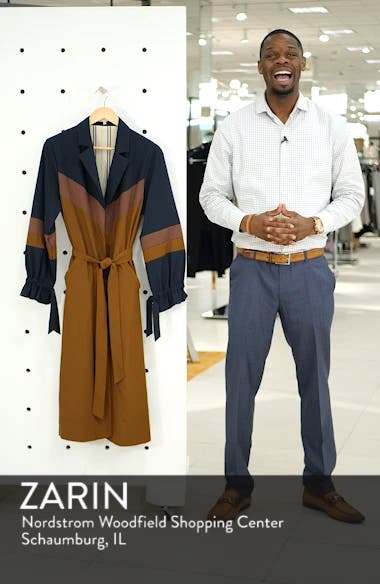 Colorblock Trench Duster, sales video thumbnail