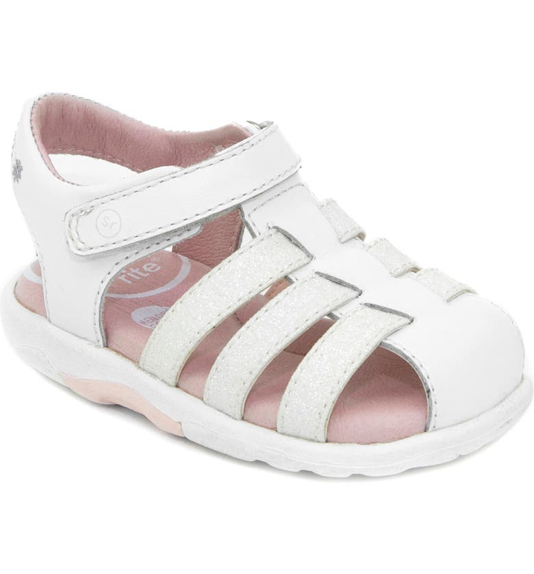 STRIDE RITE SRtech<sup>™</sup> Luna Sandal, Main, color, WHITE