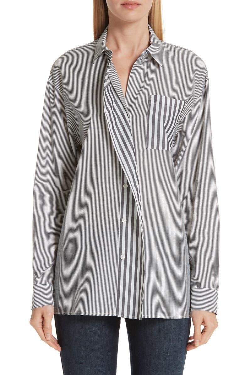 LAFAYETTE 148 NEW YORK Tommy Curve Placket Shirt, Main, color, 020