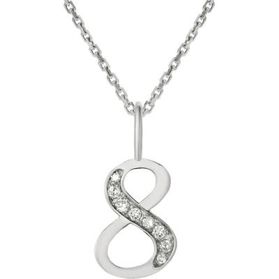 Mini Mini Jewels Diamond Number Pendant Necklace