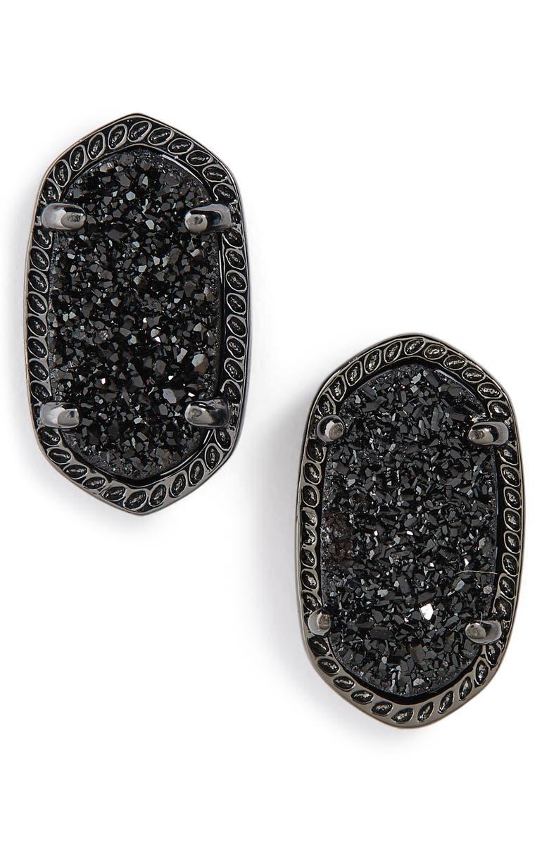 KENDRA SCOTT Ellie Oval Stone Stud Earrings, Main, color, 002