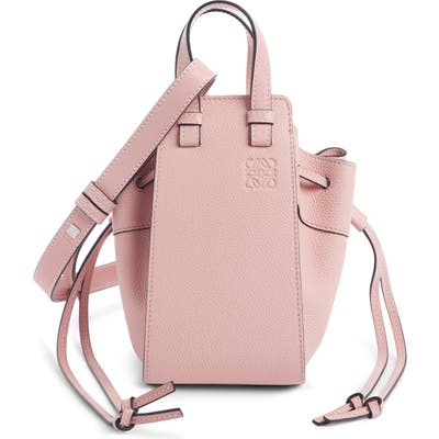 Loewe Hammock Mini Leather Hobo - Pink