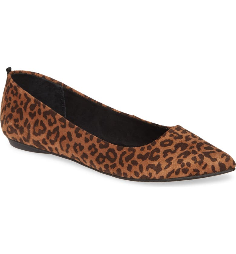 BP. Sasha Flat, Main, color, LEOPARD FAUX SUEDE