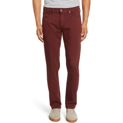 Paige Transcend - Federal Slim Straight Leg Jeans, Red