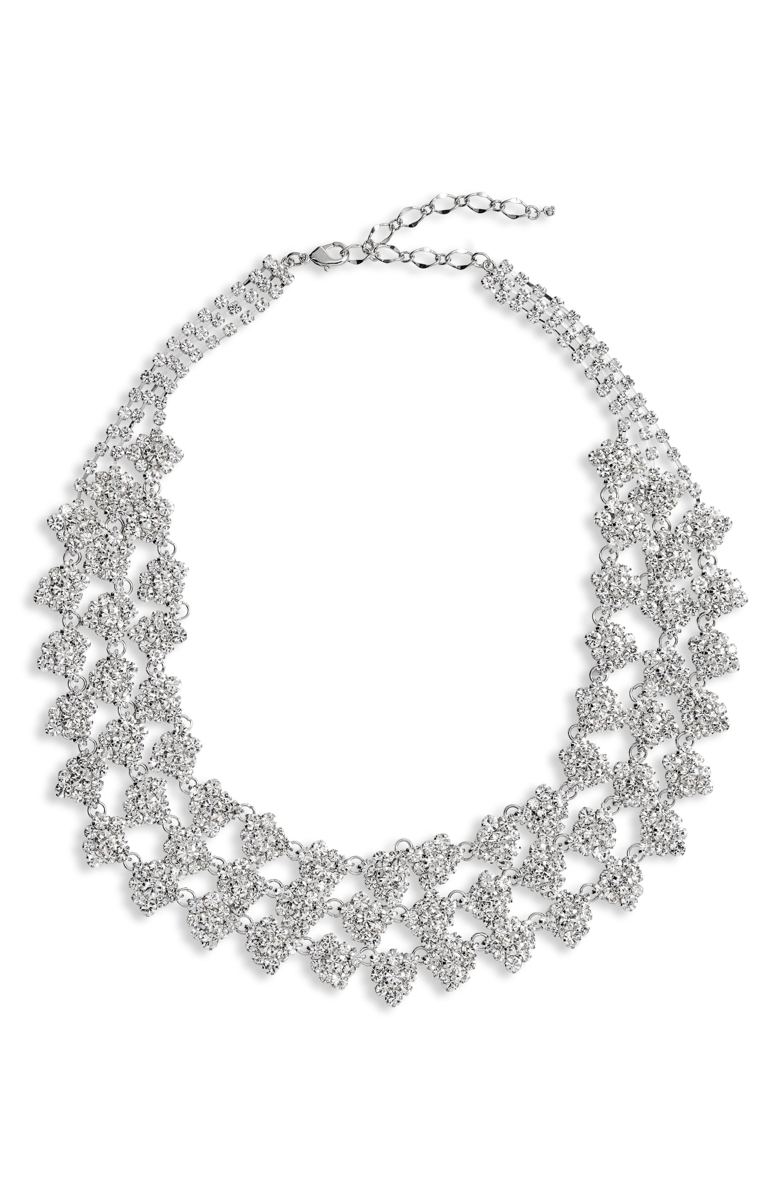 Multistone Layered Collar Necklace