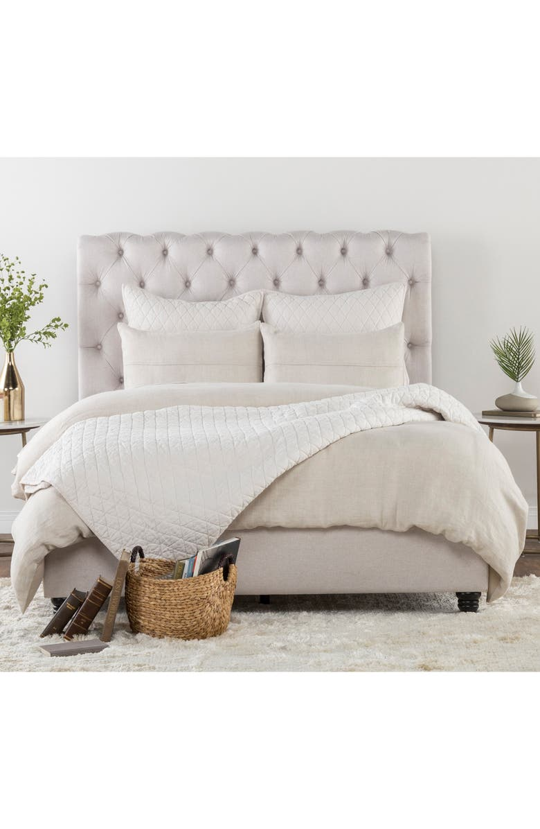 VILLA HOME COLLECTION Beaumont Linen Duvet Cover, Main, color, NATURAL