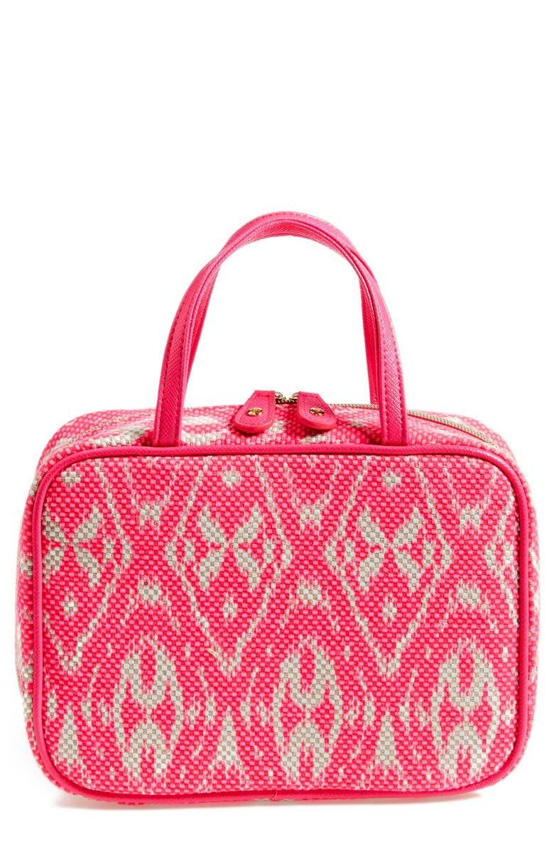 STEPHANIE JOHNSON 'Tamarindo - Pink' Traveler Cosmetics Case, Main, color, 000