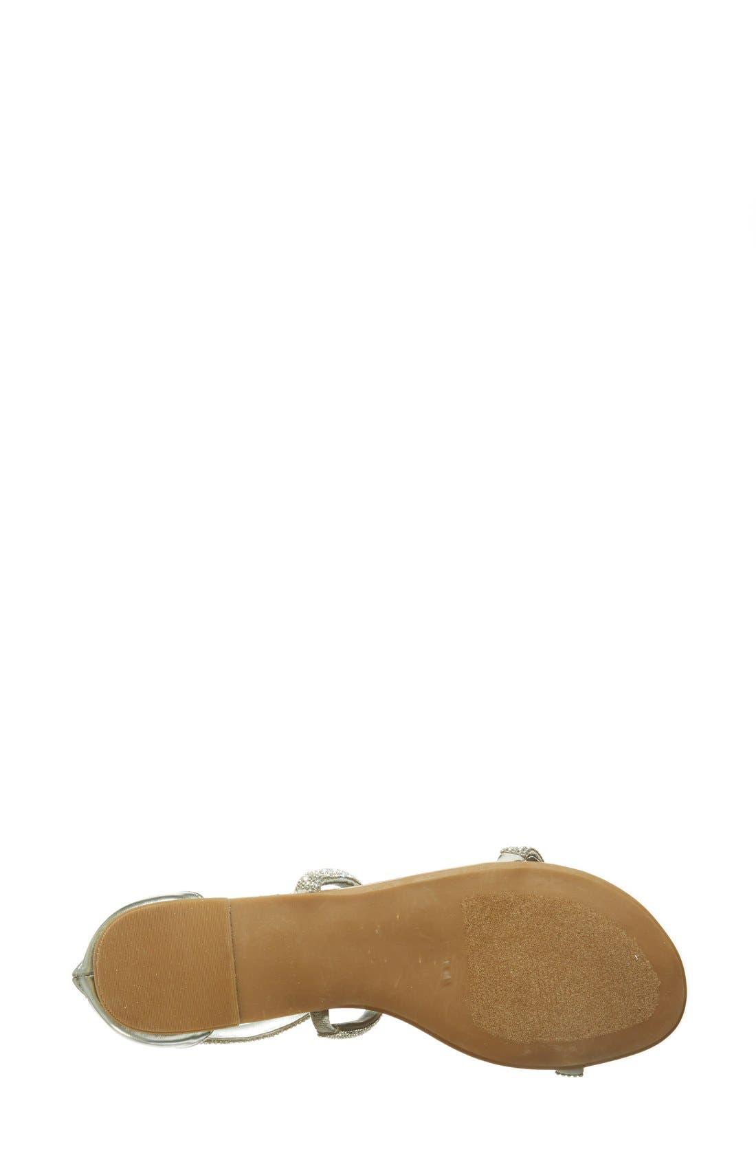 ,                             'Zsaza' Crystal Embellished Strappy Sandal,                             Alternate thumbnail 5, color,                             040