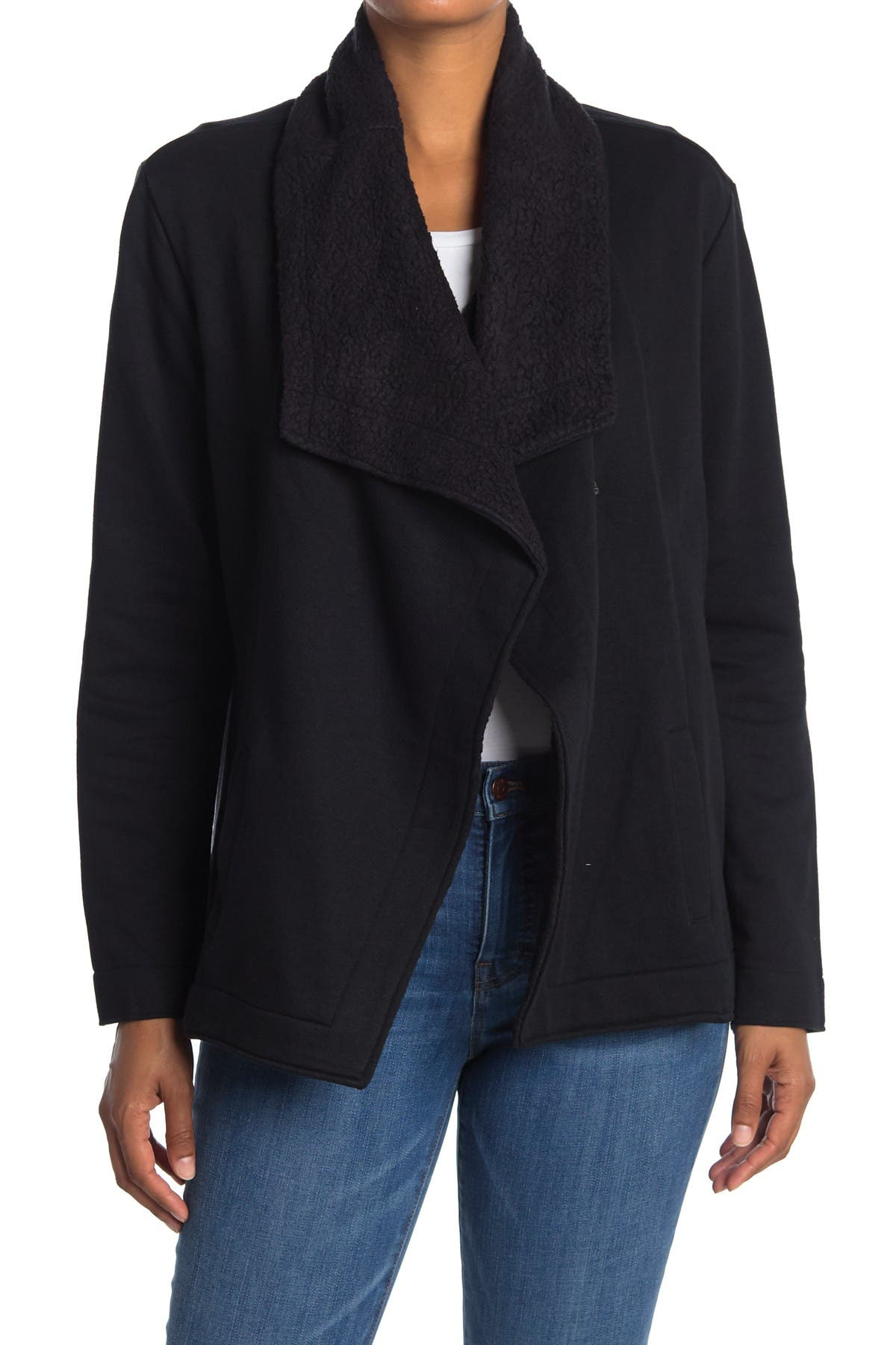 Image of JAG Jeans Tiffany Shawl Collar Faux Shearling Lined Cardigan