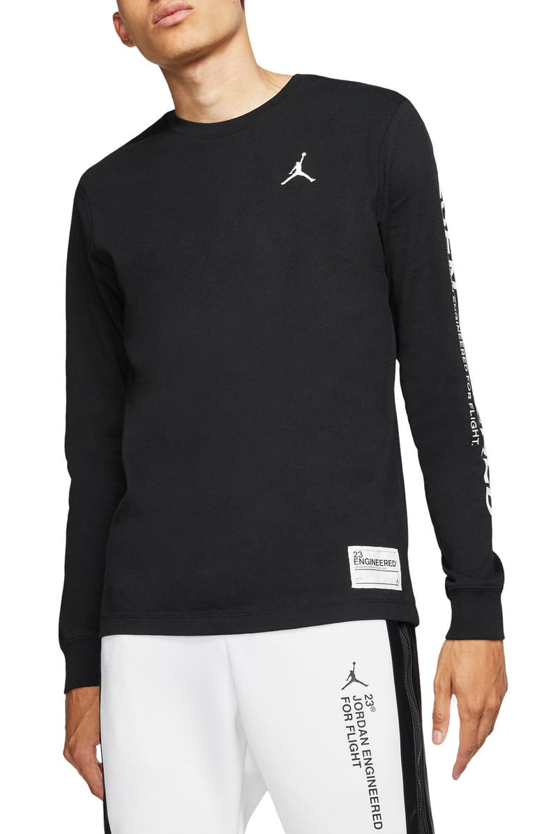 JORDAN 23 Engineered Long Sleeve T-Shirt, Main, color, BLACK/ WHITE