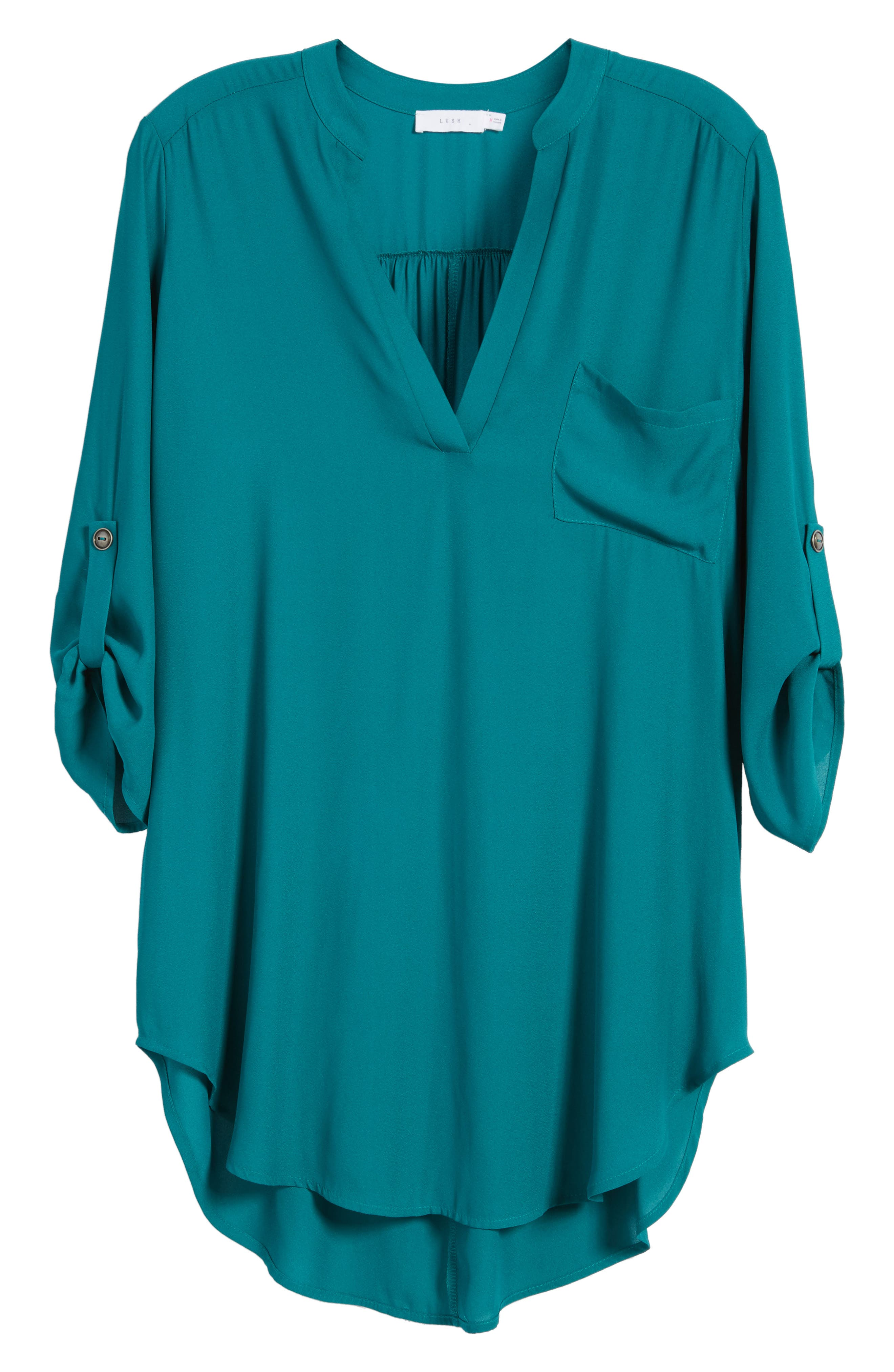 ,                             Perfect Roll Tab Sleeve Tunic,                             Alternate thumbnail 254, color,                             357