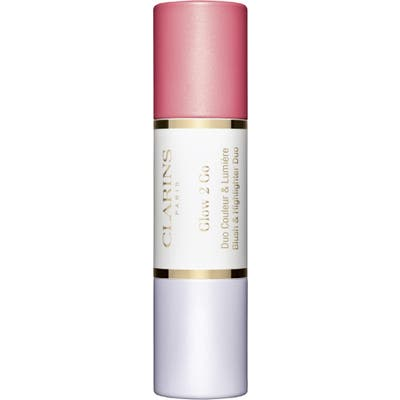 Clarins Glow 2 Go 2-In-1 Blush & Highlighter - Glowy Pink