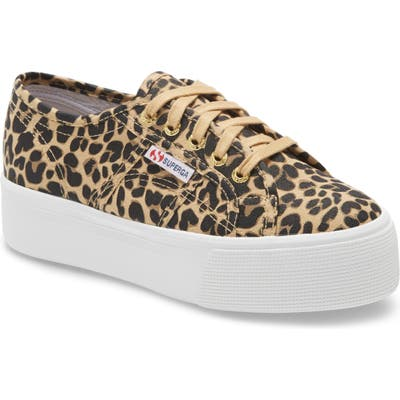 Superga 2790 Cotw Fantasy Platform Sneaker, Brown