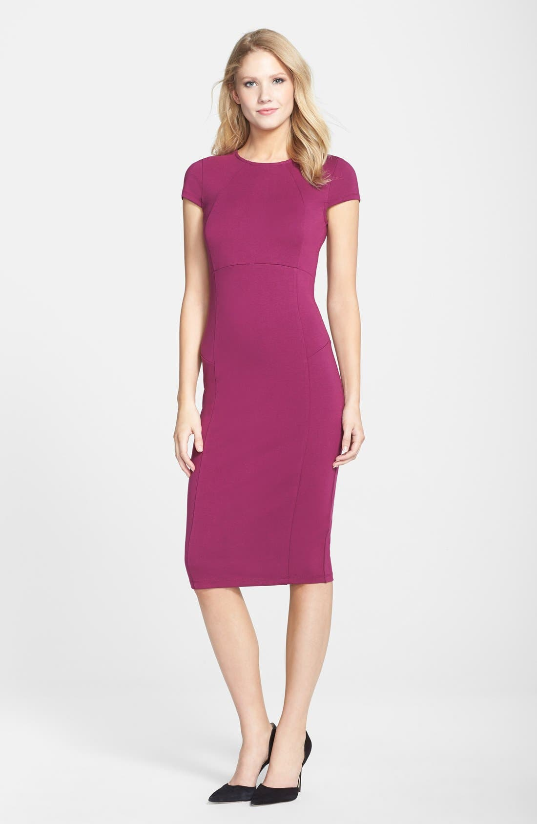 ,                             Ward Seamed Pencil Dress,                             Alternate thumbnail 54, color,                             508