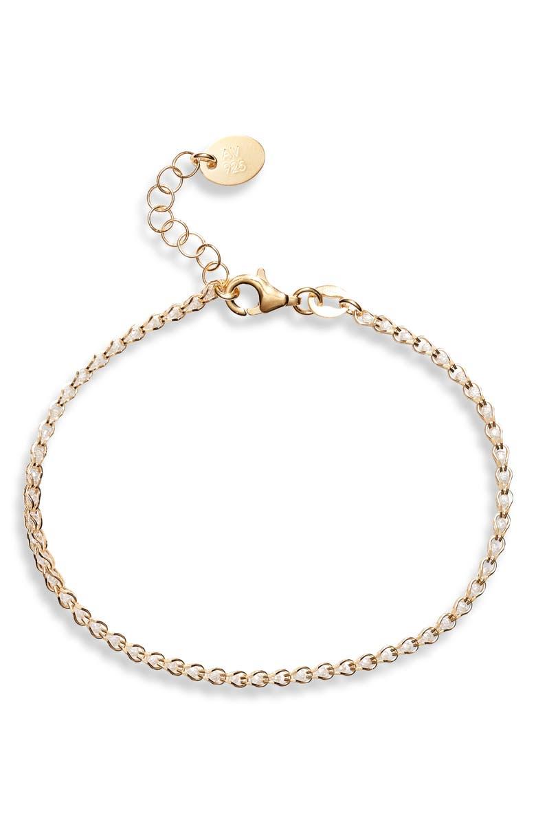 ARGENTO VIVO Caged Crystal Bracelet, Main, color, GOLD/ CLEAR