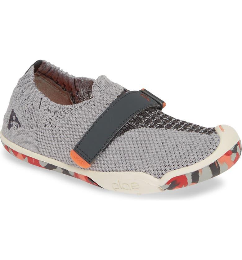 PLAE Elise Knit Sneaker, Main, color, VOLTAGE GREY