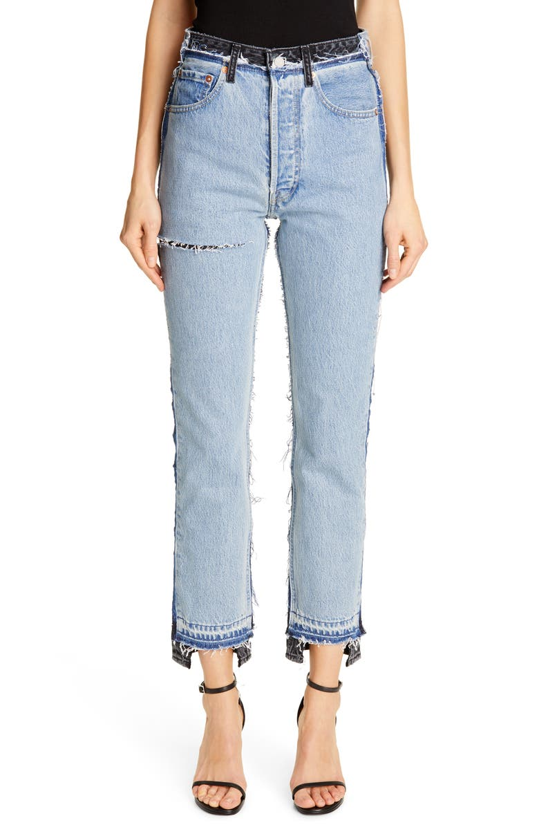 VETEMENTS Reworked Straight Leg Jeans, Main, color, 400