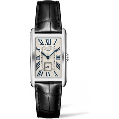 Longines Dolcevita Leather Strap Watch, 25.m X 42mm