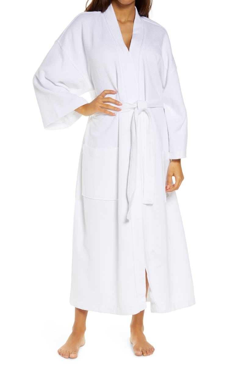 MAJESTIC INTERNATIONAL Panama Waffle Robe, Main, color, White