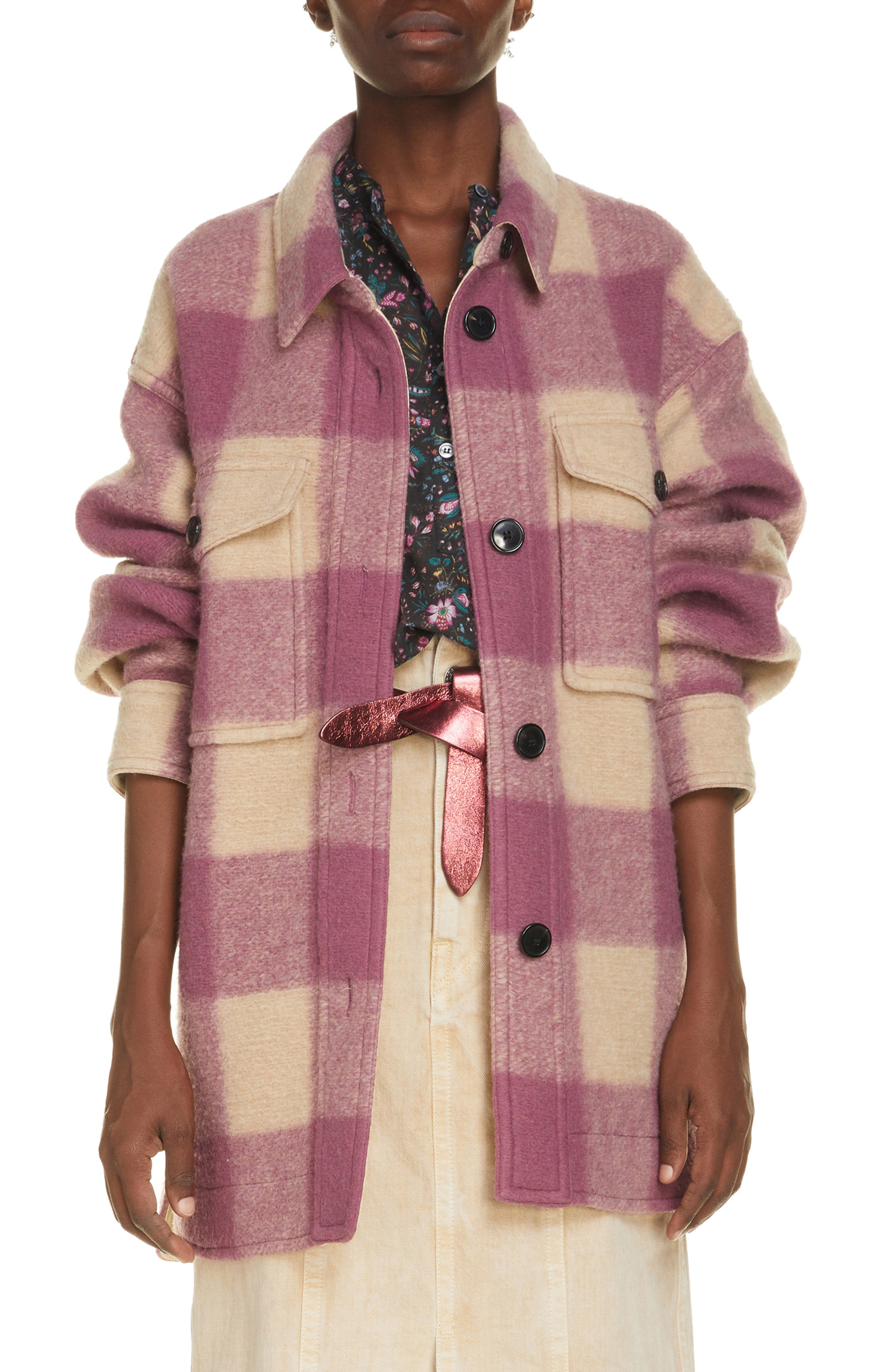 Women's Isabel Marant Etoile Harveli Buffalo Check Coat