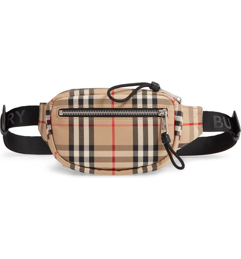 BURBERRY Vintage Check Belt Bag, Main, color, ARCHIVE BEIGE