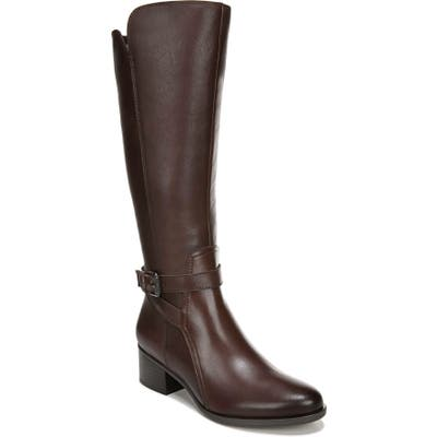 Naturalizer Demetria Tall Boot, Regular Calf- Brown