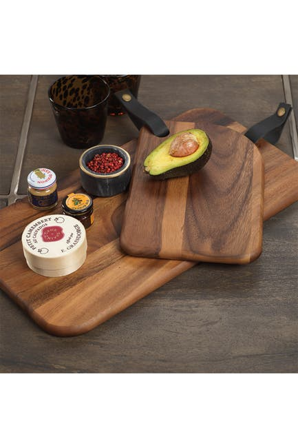 Image of Zodax Bali Cheese Board w/Leather Strap - 8x11.75