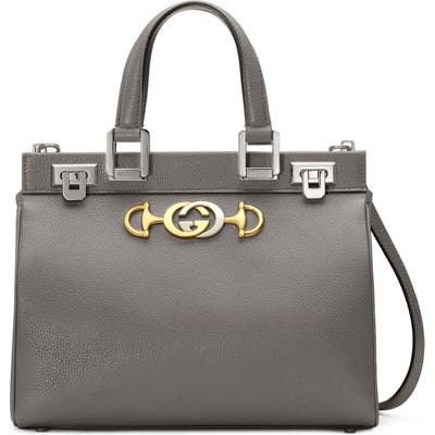 Gucci Smallleather Satchel - Grey