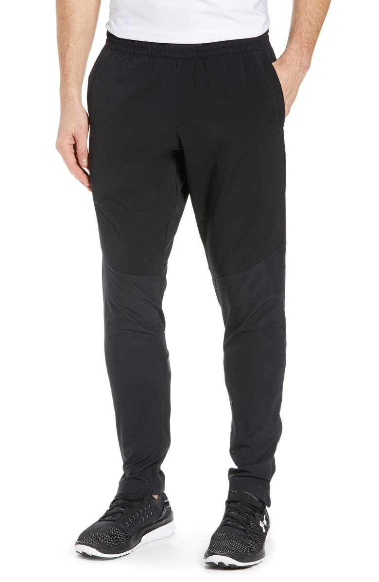 UNDER ARMOUR Storm Cyclone Water Repellent Track Pants, Main, color, BLACK/ BLACK/ BLACK