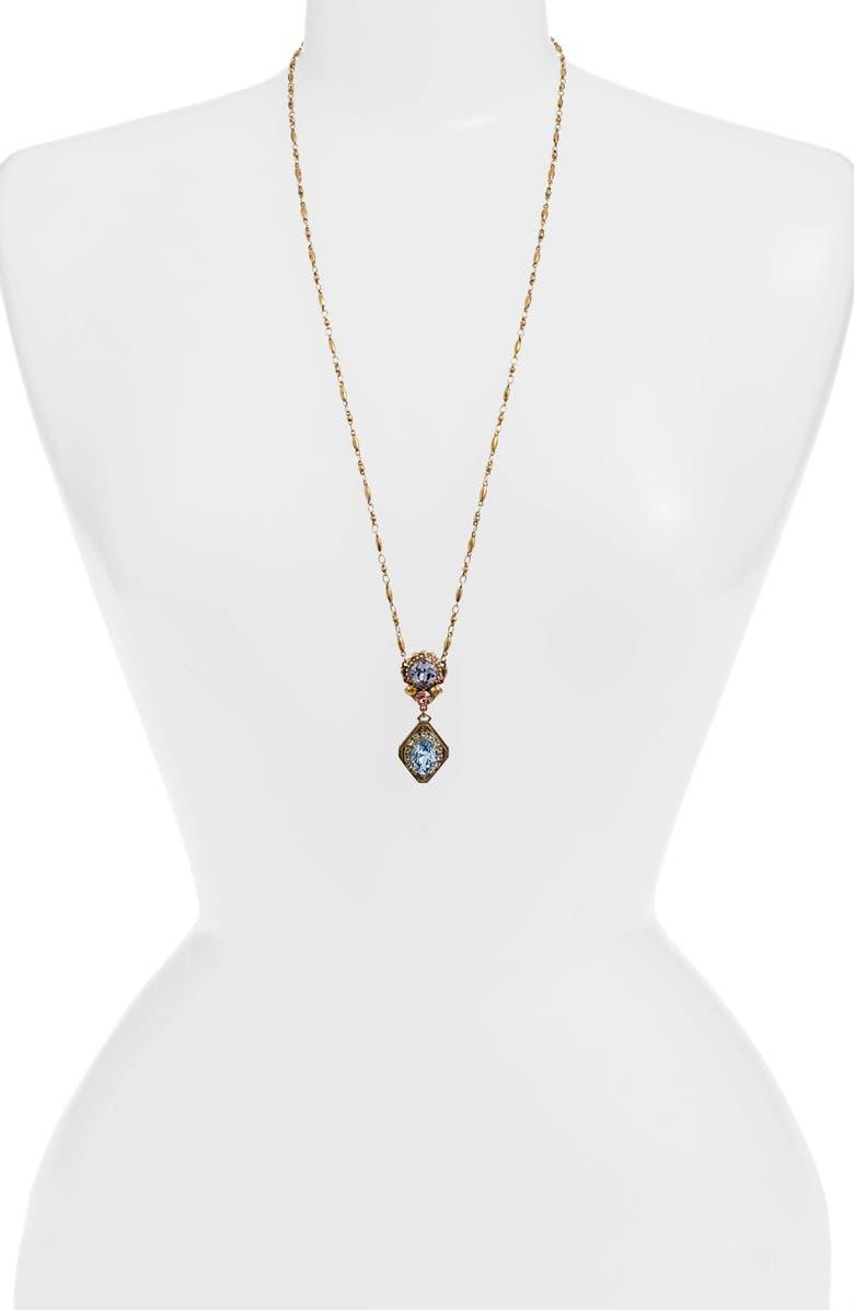 SORRELLI Bohemian Bright Embellished Crystal Pendant Necklace, Main, color, 710