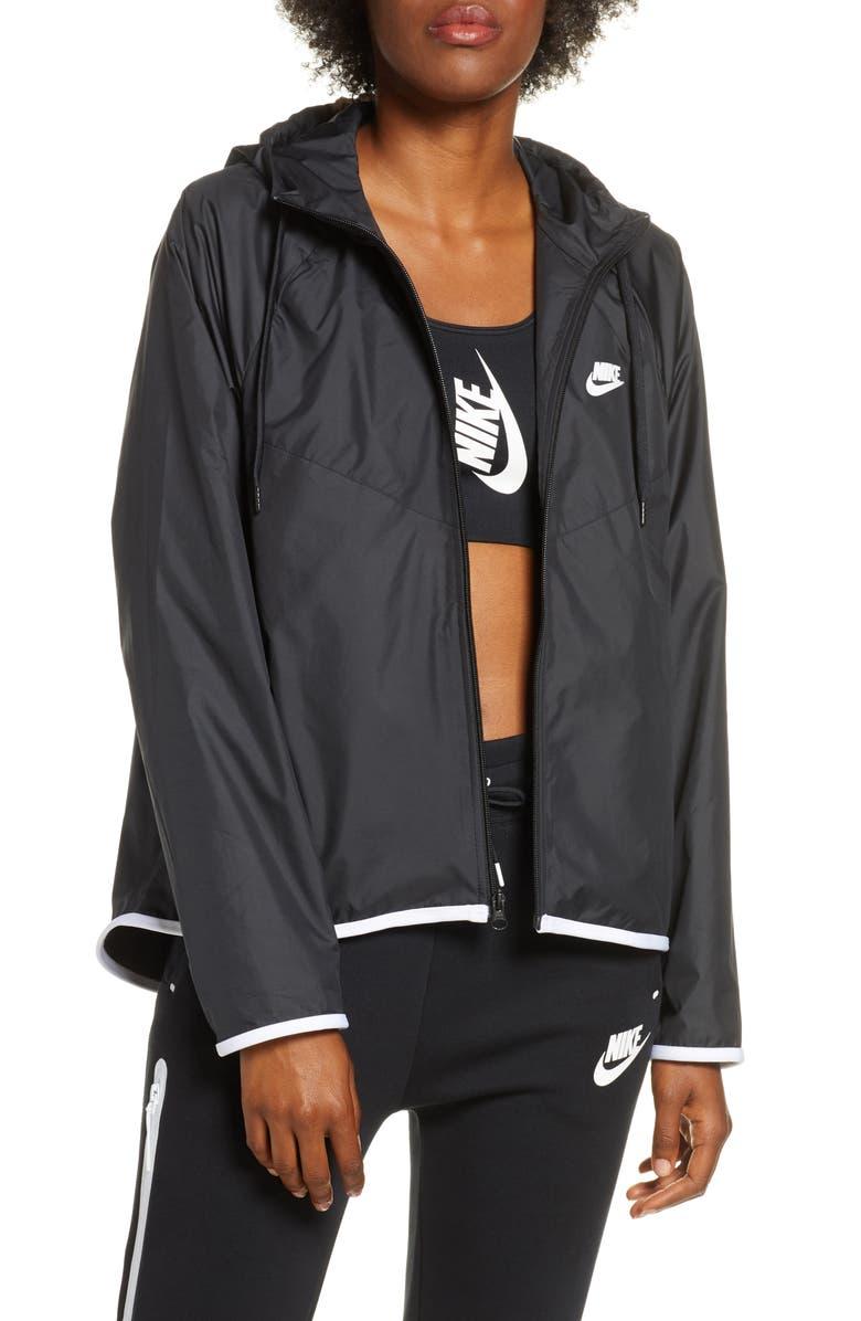 NIKE Sportswear Windrunner Water Repellent Jacket, Main, color, BLACK/ BLACK/ BLACK