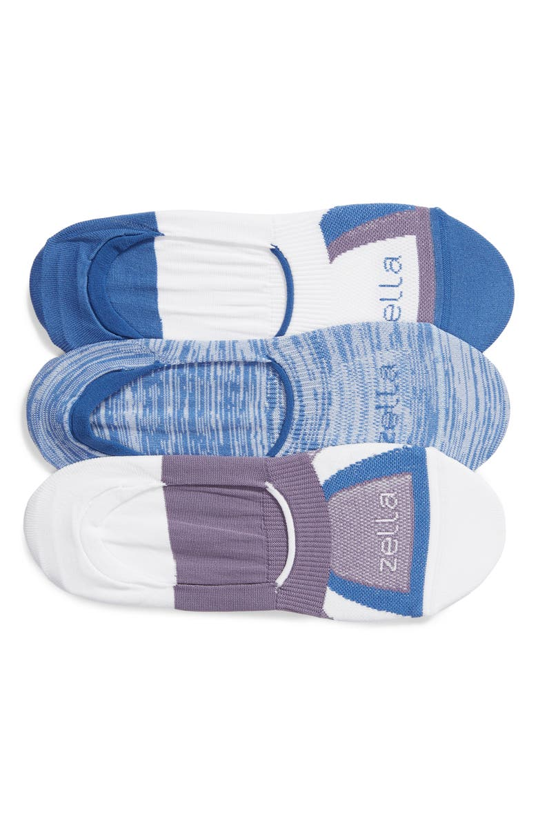 ZELLA 3-Pack No-Show Socks, Main, color, BLUE STAR