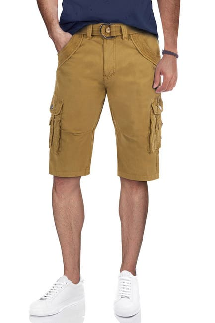 Image of XRAY Belted Double Pocket Cargo Shorts