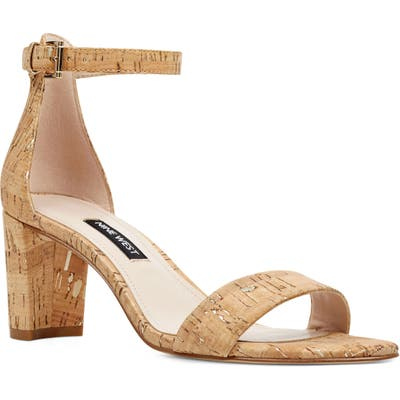 Nine West Pruce Ankle Strap Sandal- Beige