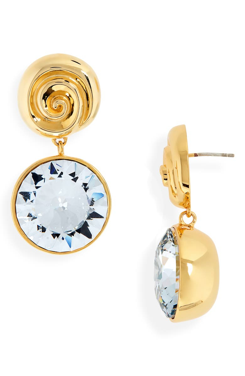LIZZIE FORTUNATO The Crown Drop Earrings, Main, color, GOLD